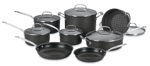 Cuisinart 66-14 Chef's Classic Nonstick Hard-Anodized 14-Piece Cookware Set - Chickadee Solutions - 1