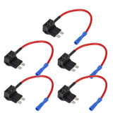 E Support 12V 24V Standard Add A Circuit Fuse Tap Piggy Back Blade Holder Plu... - Chickadee Solutions - 1