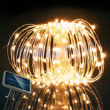 RockBirds 72Ft 150 LED Starry String Lights Solar Copper Wire Lights Warm White - Chickadee Solutions - 1