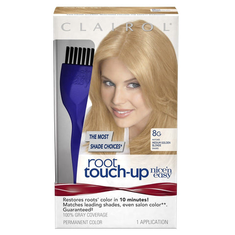 Clairol Nice 'n Easy Root Touch-Up 8G Medium Golden Blonde 1 Kit - Chickadee Solutions - 1