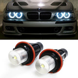 iJDMTOY (2) 7000K White High Power LED Angel Eyes Ring Marker Bulbs for BMW 5... - Chickadee Solutions - 1