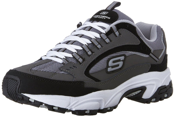 Sketchers Charcoal Relaxed Fit Shoes Mens