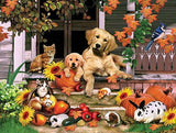Autumn on the Porch a 300-Piece Jigsaw Puzzle by Sunsout Inc. - Chickadee Solutions