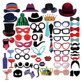 PBPBOX Photo Booth 59-Piece Novelty Photo Booth Props Kit for Parties Fun Gro... - Chickadee Solutions - 1