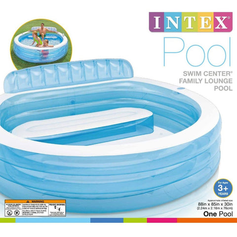 Intex Swim Center Inflatable Family Lounge Pool 88 X 85 X 30 For Ages 3 Chickadee Solutions