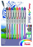 Pentel Arts Slicci 0.25 mm Extra Fine Gel Pen Assorted Ink 8 Pack (BG202BP8M) - Chickadee Solutions