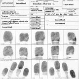 Fingerprint Cards Applicant FD-258 5 cards - Chickadee Solutions - 1