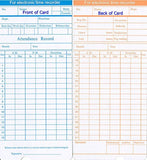300 Time Cards for uPunch HN1000 / HN3000 / HN3500 / HN5000 (original and GRE... - Chickadee Solutions