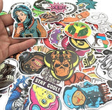 100 Random Skateboard Stickers + 10 FREE Bumper Car Stickers! Laptop Luggage ... - Chickadee Solutions - 1