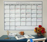 OfficeAid Laminated Jumbo Dry Erase Wall Calendar 36-Inch by 48-Inch - Chickadee Solutions - 1