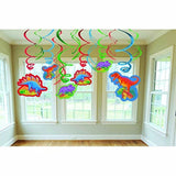 Amscan Dashing Prehistoric/Dinosaur Value Pack of Swirl Birthday Party Decora... - Chickadee Solutions