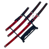 Whetstone Cutlery 3 Piece Marble Red Katana Sword Set - Chickadee Solutions - 1