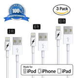 3 ft 5 ft 10ft Certified iPhone 5 & 6 Charging Cable Variety Pack - 8-pin Lig... - Chickadee Solutions - 1