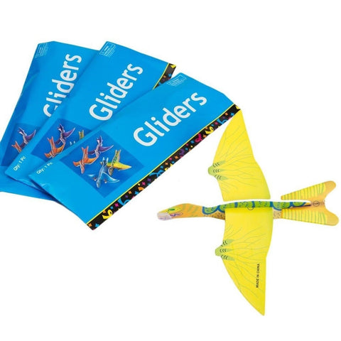 "Rhode Island Novelty Dinosaur Gliders Set (48 Pack) 7 1/2"" - Chickadee Solutions"