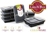 CulinWare 3-Compartment Microwave Safe Food Container with Lid/Divided Plate/... - Chickadee Solutions - 1