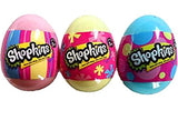 Set of 3: Shopkins Season 4 Surprise Pastel Eggs - Pink Blue and Yellow - Chickadee Solutions