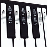 Piano and Keyboard Music Note Full Set Stickers for White and Black Keys with... - Chickadee Solutions - 1