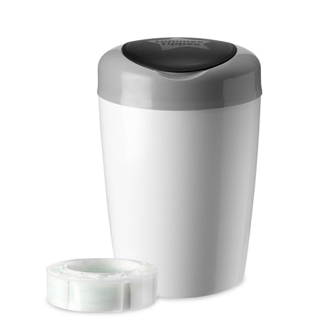 Tommee Tippee Simplee Diaper Pail with 1 Refill Grey Tommee Tippee 555212 - Chickadee Solutions - 1