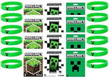Minecraft Party Bag Fillers - 12 Official Minecraft Creeper Wristbands and 12... - Chickadee Solutions