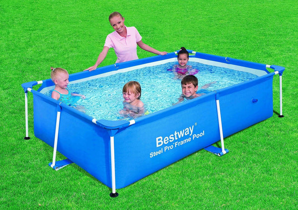 Bestway 56041 Rectangular Splash Frame Pool 94 By 59 By 23 Inch Discontinued Chickadee