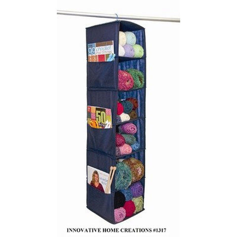 6 SHELF HANGING SWEATER CLOSET & CLOTHING ORGANIZER BLUE 1 1317 039676013175 - Chickadee Solutions