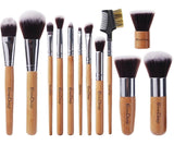 EmaxDesign 12 Pieces Makeup Brush Set Professional Bamboo Handle Premium Synt... - Chickadee Solutions - 1