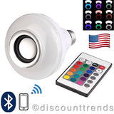 LED RGB Color Bulb Light E27 Bluetooth Control Smart Music Audio Speaker Lamps - Chickadee Solutions - 1