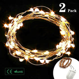 Diateklity LED String Lights Wire Lights(2 Pack) Waterproof Starry String Lig... - Chickadee Solutions - 1