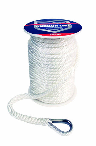 Attwood Solid Braid MFP Anchor Line with Thimble - Chickadee Solutions