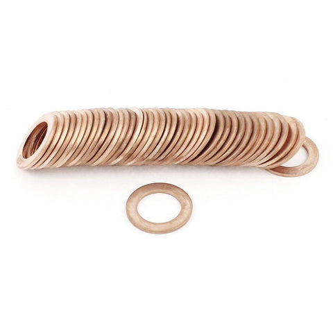 14mmx22mmx1.5mm Copper Crush Washer Flat Ring Seal Gasket 50Pcs - Chickadee Solutions