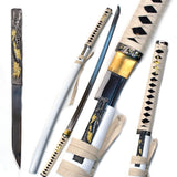 Ace Martial Arts Handmade White Zetsurin Samurai Katana Sword Sharp - Chickadee Solutions - 1