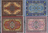 Set of 4 Rug Coasters - Persian Style Carpet Table Coasters - Chickadee Solutions - 1