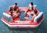 Intex Pacific Paradise Relaxation Station Water Lounge 4-Person River Tube Raft - Chickadee Solutions - 1