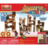 Ideal Amaze 'N' Marbles 45 Piece Classic Wood Construction Set - Chickadee Solutions - 1