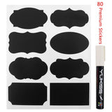 Chalkboard Labels - Yukiss 80 Premium Reusable Chalk Stickers for Jars + Whit... - Chickadee Solutions - 1