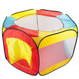 Hexagon Pop Up Ball Pit Tent with Mesh Netting and Carrying Case by Imaginati... - Chickadee Solutions - 1