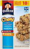 Quaker Chewy Granola Bars 25% Less Sugar Variety Pack Snack Bars Low Sugar 18... - Chickadee Solutions - 1