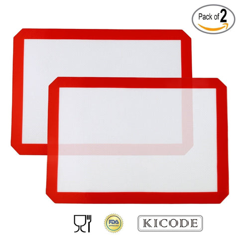 Kicode - 2x Silicone Baking Mat - Healthy Cooking - Food-Safe Certified - Ove... - Chickadee Solutions - 1