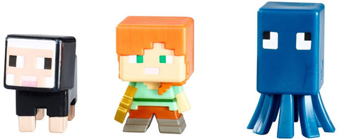Minecraft Collectible Figures Set J (3-Pack) Series 3 - Chickadee Solutions - 1