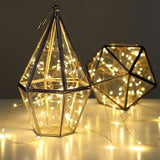CMYK 3 Pack Led Copper Wire Lights 15 Micro Starry LEDs Super Bright Warm Whi... - Chickadee Solutions - 1