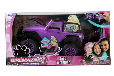 Jada Toys GIRLMAZING Big Foot Jeep R/C Vehicle (1:16 Scale) Purple - Chickadee Solutions - 1