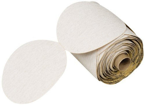 "3M NX PSA Paper Disc Roll Aluminum Oxide 6"" Diameter P400 Grit White (Roll of... - Chickadee Solutions"