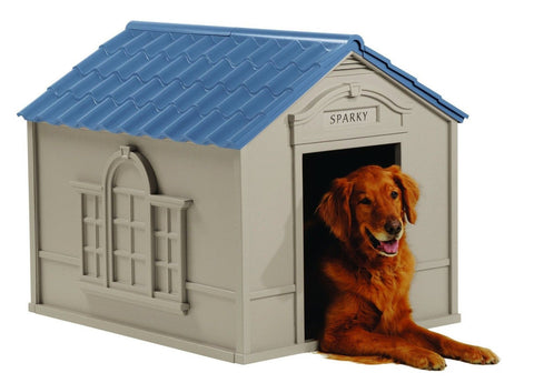 Suncast Large Deluxe Dog House with FREE Doors - DH350 76 Lbs And Up - Chickadee Solutions - 1