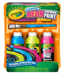 Crayola Washable Sidewalk Neon Paint Tray 9 piece kit 1 Pack - Chickadee Solutions