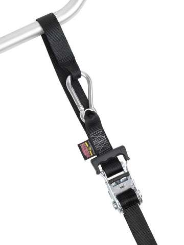 "1"" x 6ft PowerTye Made in USA Heavy-Duty Ratchet Tie-Downs with Carabiner Hoo... - Chickadee Solutions - 1"