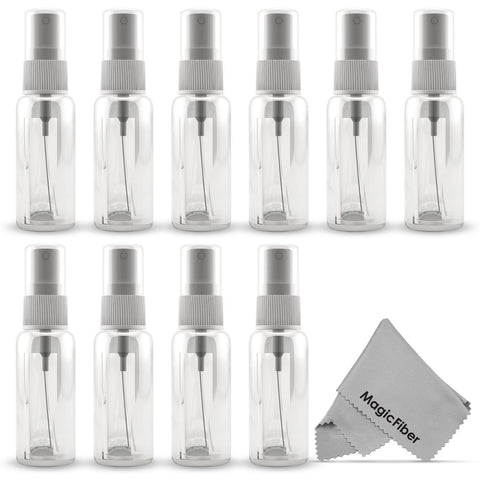 (10 Pack) Empty 20mL (0.66oz.) Clear Plastic Fine Mist Spray Bottle (Less Tha... - Chickadee Solutions - 1