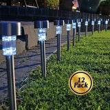 Solar Pathway lights [12 Pack] Koolife [Stainless Steel] Led Path Landscape L... - Chickadee Solutions - 1