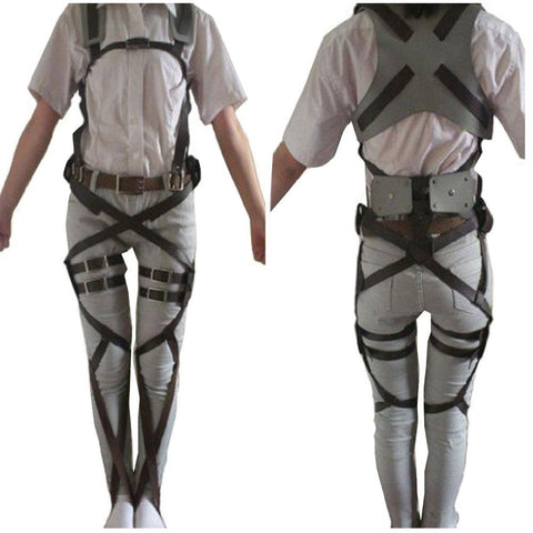 1 X Cosplay Attack on Titan Shingeki no Kyojin Recon Corps Belt Hookshot Cost... - Chickadee Solutions - 1