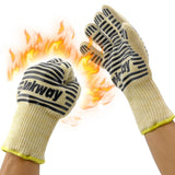 Ankway BBQ Grill Gloves Hot Surface Handler for Grilling & Cooking-Black Black - Chickadee Solutions - 1