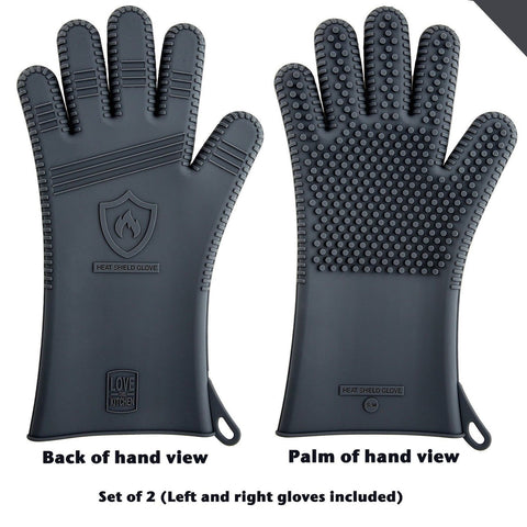 Latest Technology (Air Channels) in Men's Silicone Barbecue Gloves | Heat Res... - Chickadee Solutions - 1